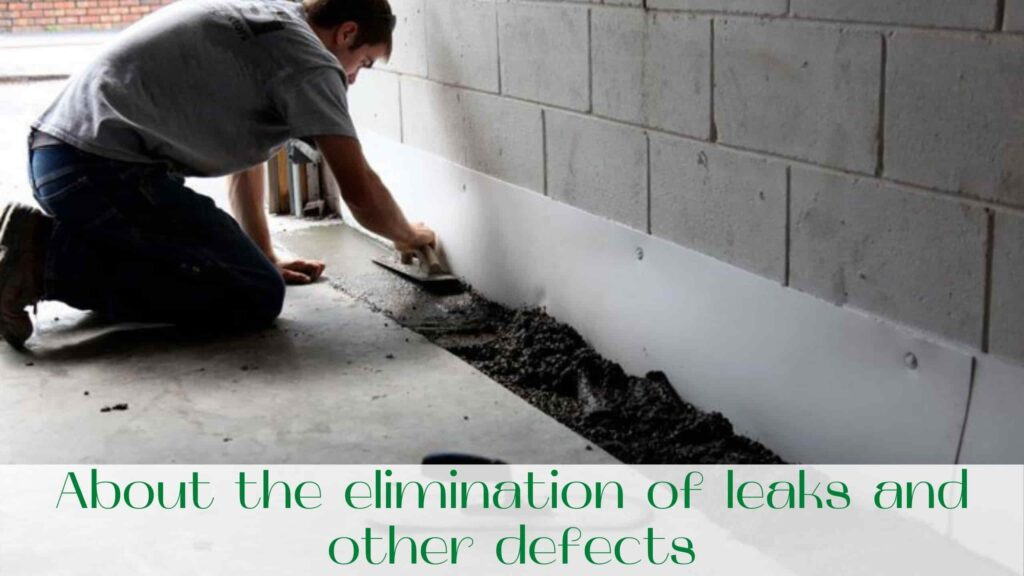 image-About-the-elimination-of-leaks-and-other-defects