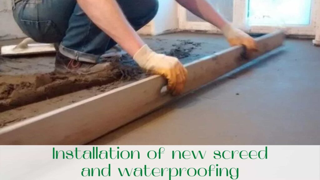 image-Installation-of-new-screed-and-waterproofing-Bathroom-renovations-in-Toronto
